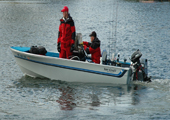 Fishermen in Boats at Walleye Derby