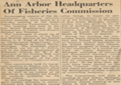 Article, Ann Arbor Headquarters of Fisheries Commission